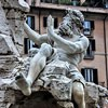 Antonio Raggi, personifikacja Dunaju, Fontana dei Quattro Fiumi