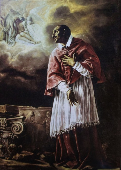 Karol Boromeusz, zakrystia kościoła San Carlo alle Quattro Fontane, Orazio Borgianni