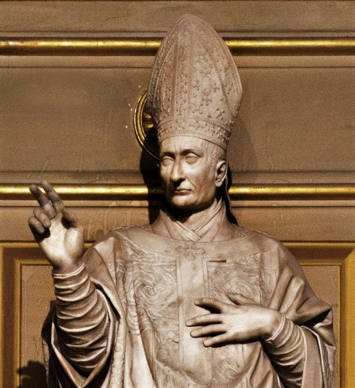Stefano Maderno, posąg  Karola Boromeusza (Carlo Borromeo), fragment, kościół San Lorenzo in Damaso