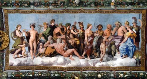 Farnesina, Loggia di Psiche, Psyche przed zgromadzeniem bogów