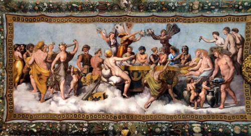 Farnesina, Loggia di Psiche, Uczta bogów, zdj. Wikipedia