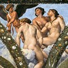 Villa Farnesina, Loggia di Psiche, The Three Graces, Raphael and Giulio Romano, pic. Wikipedia, author Mattis