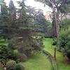 Farnesina, widok z okna na dzisiejszy ogród willi