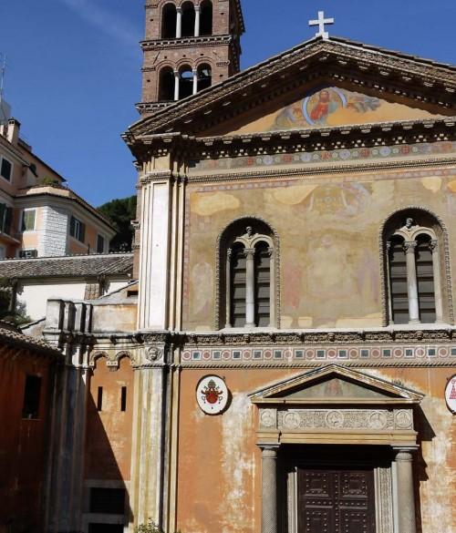 Santa Pudenziana, church façade with campanile in the background
