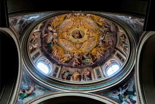 Santa Pudenziana, kopuła z  malowidłami Pomarancia