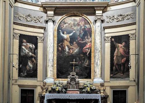 Santa Pudenziana, ołtarz główny - Gloria św. Pudencjany, Bernardino Nocchi