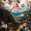 Św. Pudencjana i św. Prakseda przygotowujące umęczone ciała chrześcijan do pochówku, Antonio Tanari, XVII w., kościół Santa Pudenziana