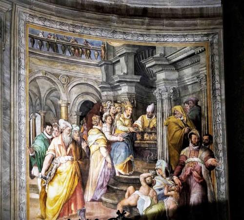 San Pietro in Vincoli, malowidło absydy, Cesarzowa Aelia Eudoksja otrzymuje kajdany Piotrowe od biskupa Jerozolimy, Jacopo Coppi