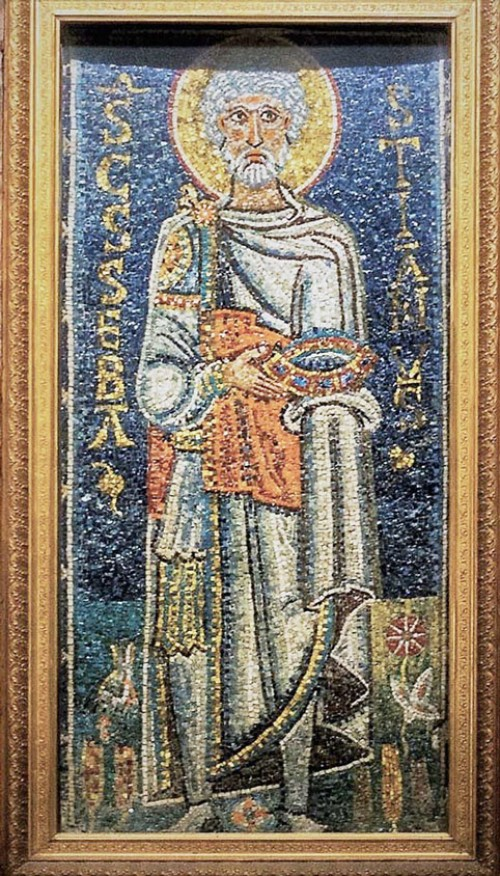 Basilica of San Pietro in Vincoli, mosaic from the VII century, St. Sebastian