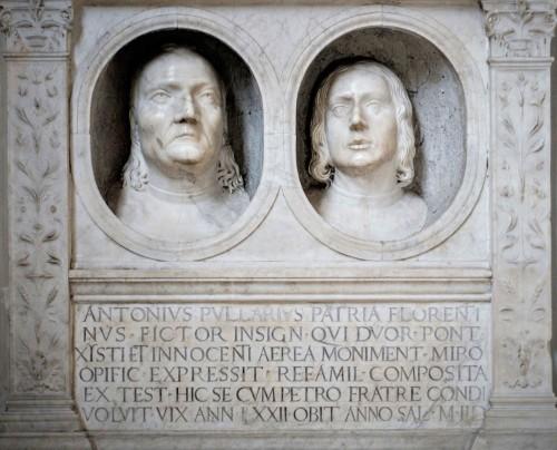 San Pietro in Vincoli, nagrobek Antonio i Piera Pollaiuolo