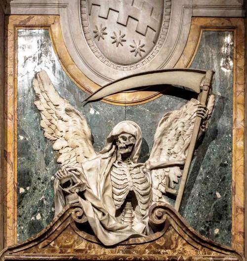 Basilica of San Pietro in Vincoli, tombstone of Cardinal Cinzio Aldobrandini, fragment