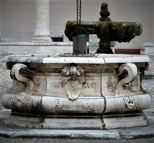 Well on the courtyard of the old monastery by the Basilica of San Pietro in Vincoli