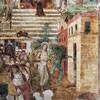 San Pietro in Vincoli, fresk - Procesja w intencji uwolnienia od zarazy i nagrobek Antonia i Piera Pollaiuolo