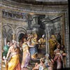 Basilica of San Pietro in Vincoli, apse paintings - Empress Aelia Eudoxia Receiving St. Peter's Chains from the bishop of Jerusalem, Jacopo Coppi
