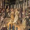 San Pietro in Vincoli, malowidło absydy, Cesarzowa Licynia Eudoksja przekazuje kajdany Piotrowe papieżowi Leonowi I, Jacopo Coppi