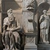 Basilica of San Pietro in Vincoli, Moses accompanied by Leah and Rachel, funerary monument of Pope Julius II, Michelangelo