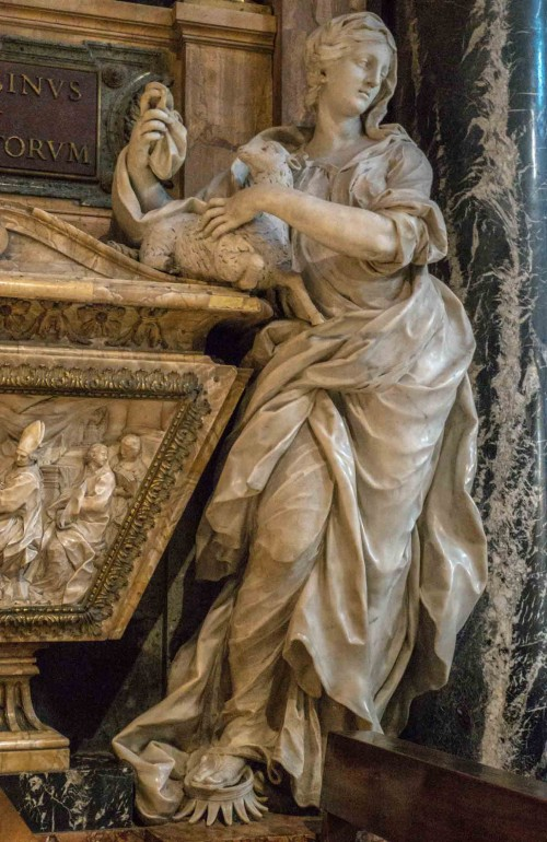 Pietro Bracci, alegoria Religii - nagrobek papieża Benedykta XIII, bazylika Santa Maria sopra Minerva