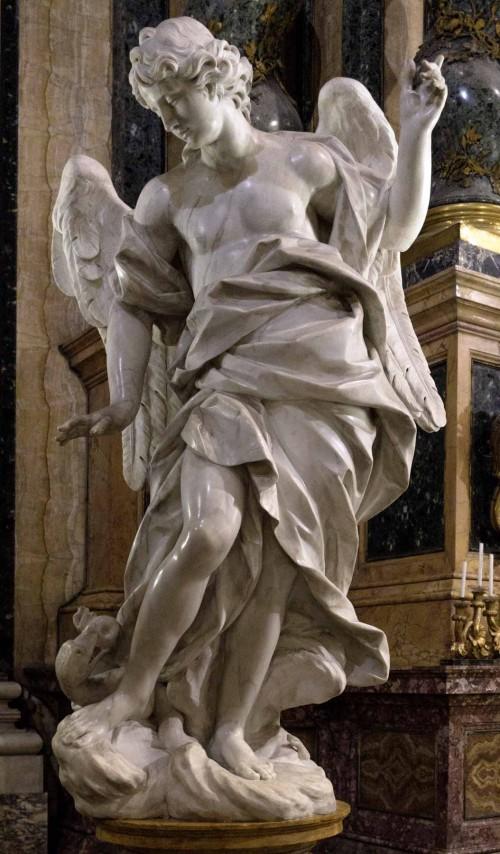 Pietro Bracci, anioł z ołtarza Jana Berchmansa, lewy transept kościoła Sant'Ignazio
