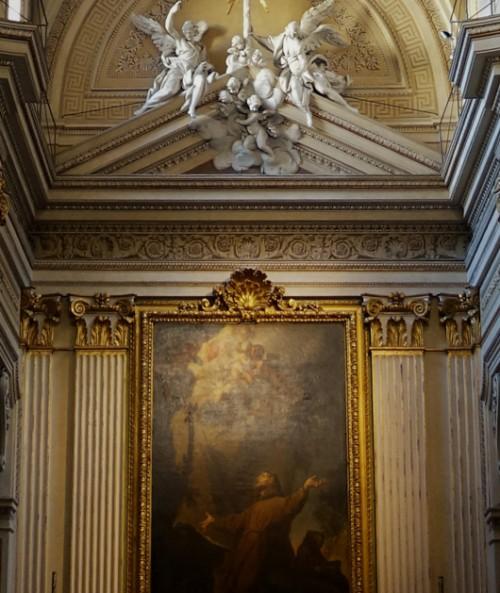 Pietro Bracci, Anioły wieńczące ołtarz główny w kościele Santissime Stimmate di San Francesco