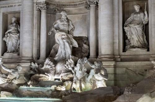 Pietro Bracci,  figury Okeanosa i trytonów, Fontana di Trevi
