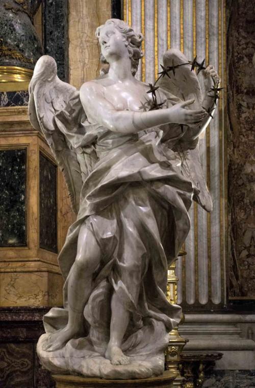 Pietro Bracci, jeden z aniołów z ołtarza Jana Berchmansa, kościół Sant'Ignazio