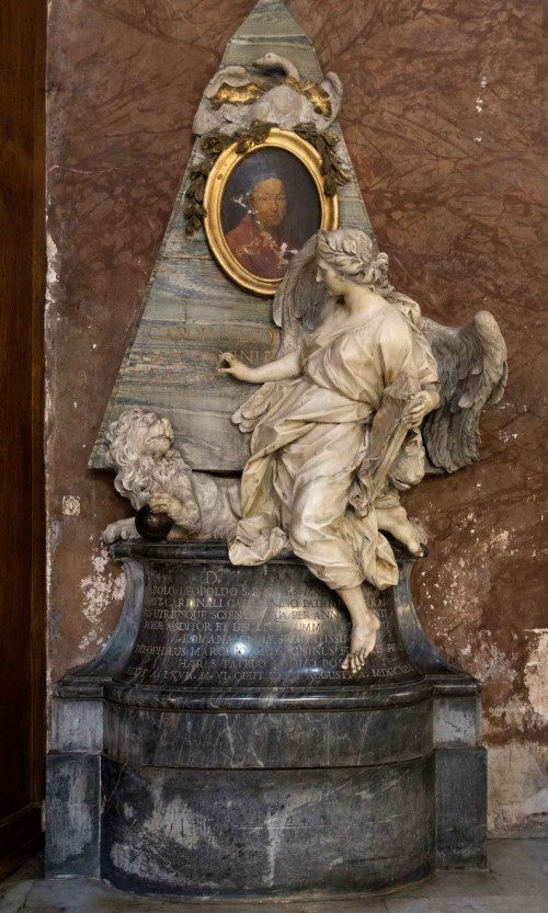 Pietro Bracci, pomnik nagrobny kardynała Carla Leopolda Calcaganiego, bazylika Sant'Andrea delle Fratte