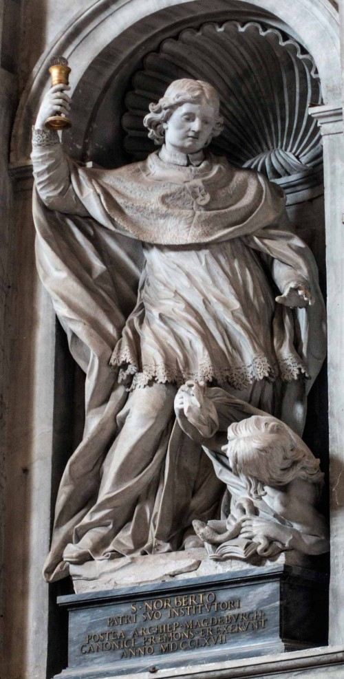 Pietro Bracci, posąg św. Norberta, bazylika San Pietro in Vaticano