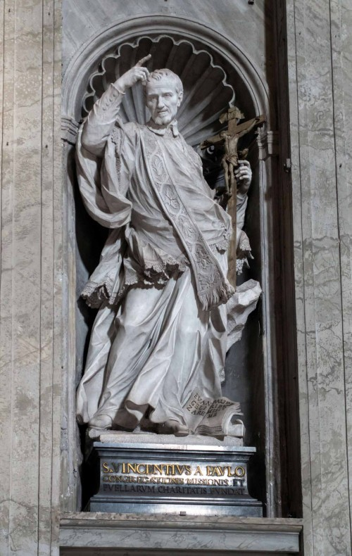 Pietro Bracci, posąg św. Wincentego à Paolo, bazylika San Pietro in Vaticano