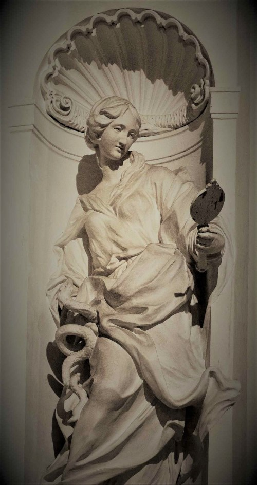 Camillo Rusconi, personifikacja Roztropności, kaplica Ludovisi, kościół Sant'Ignazio di Loyola