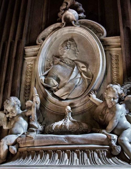 Camillo Rusconi, pomnik nagrobny Aleksandra B. Sobieskiego, fragment, kościół  Santa Maria della Concezione