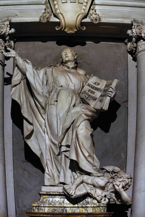 Camillo Rusconi, posąg św. Ignacego Loyoli, kościół Sant'Ignazio, gipsowy odlew oryginału znajdującego się w bazylice San Pietro in Vaticano