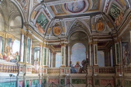 Andrea Pozzo, Convento Santissima Trinità dei Monti, freski w refektarzu