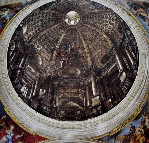 Andrea Pozzo, painting imitating the dome, Church of Sant'Ignazio di Loyola