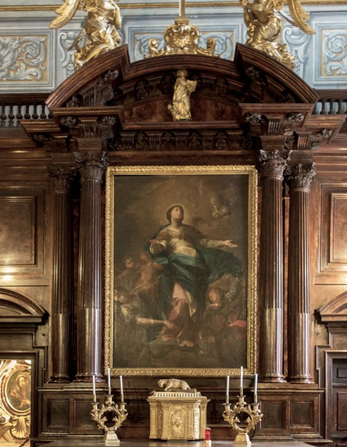 Andrea Pozzo, The Immaculate Conception of the Virgin Mary, Church of Sant'Andrea al Quirinale