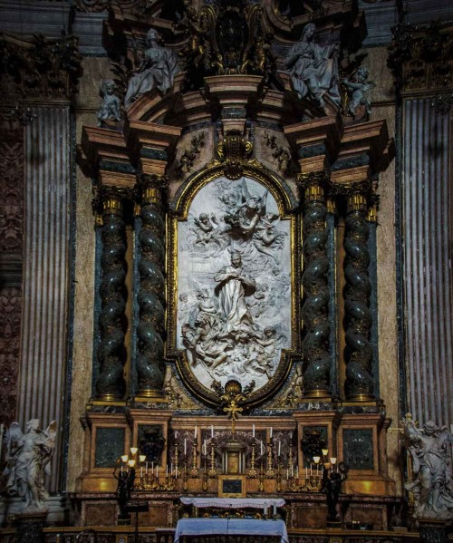 Andrea Pozzo, design of altar of St. Aloysius in the Church of Sant'Ignazio di Loyola