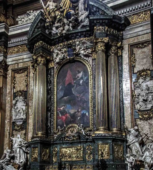 Andrea Pozzo, design of altar of St. Ignatius of Loyola, Church of Il Gesù