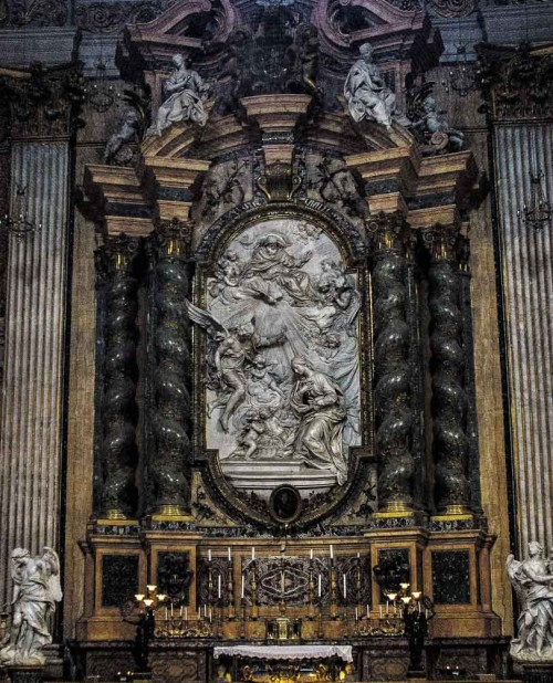 Andrea Pozzo, design of altar of St. John Berchmans, Church of Sant'Ignazio di Loyola
