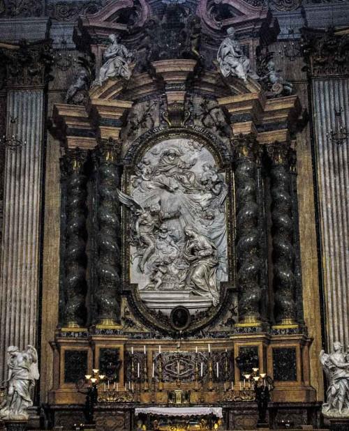 Andrea Pozzo, projekt ołtarza św. Jana Berchmansa, kościół Sant'Ignazio di Loyola