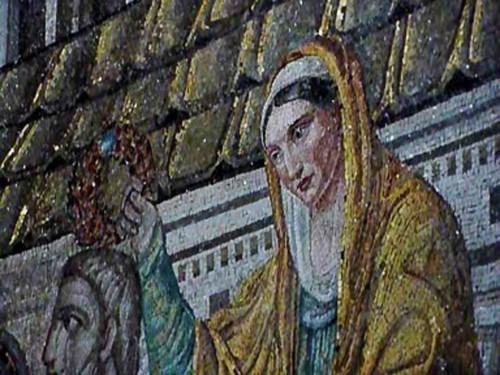 Ecclesia ex circumcissione (personifikacja Kościoła wywodzącego się od żydów), koronująca św. Piotra, kościół Santa Pudenziana