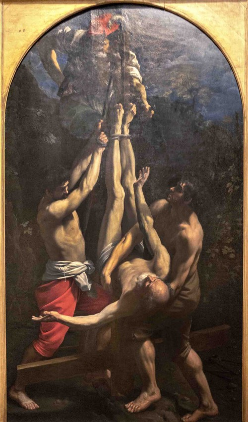 Guido Reni, Ukrzyżowanie św. Piotra, Musei Vaticani, Pinacoteca Vaticana