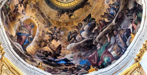 Paintings on the dome of the Chapel of Paul V, Ludovico Cardi, Basilica of Santa Maria Maggiore