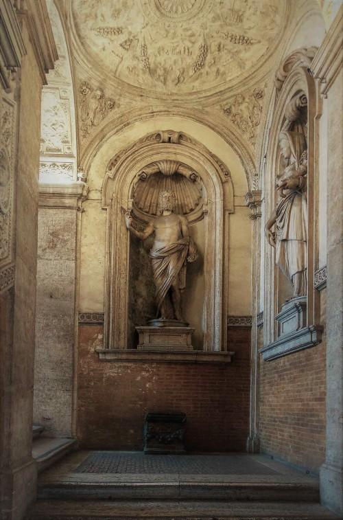 Palazzo Mattei di Giove, dekoracje klatki schodowej