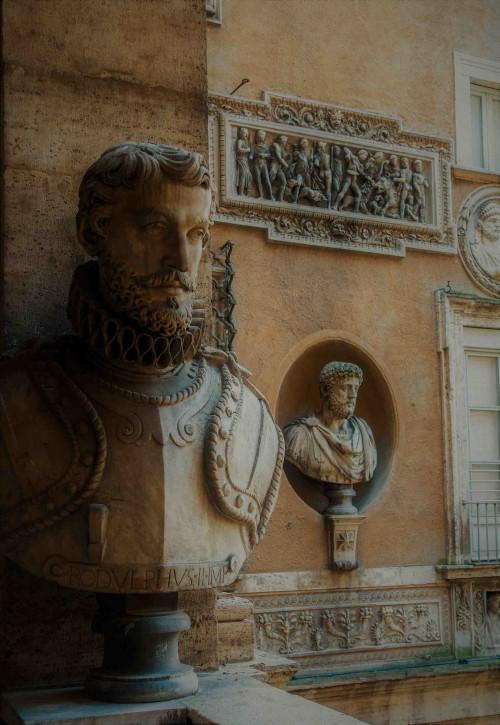 Palazzo Mattei di Giove, dekoracje loggii