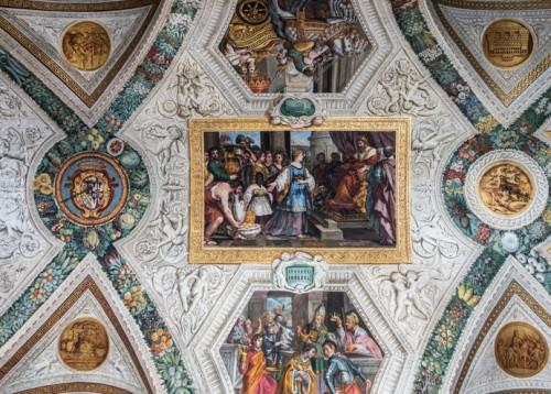 Palazzo Mattei di Giove, dekoracje malarskie galerii pałacowej, Spotkanie Salomon z królową Saby, Pietro da Cortona