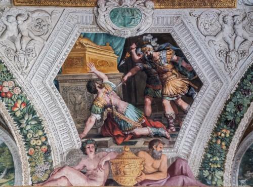 Palazzo Mattei di Giove, dekoracje malarskie pałacowej galerii, sceny z życia Salomona - Śmierć Joaba, Pietro da Cortona
