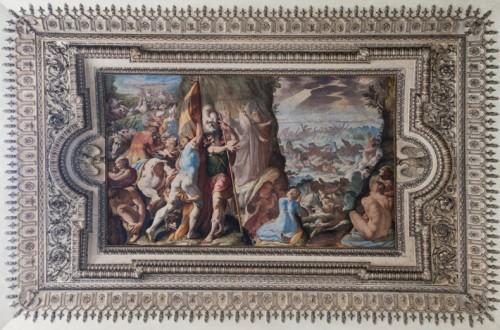 Palazzo Mattei di Giove, dekoracje sufitu jednej z sal, Przejście przez Morze Czerwone, Gaspare Celio