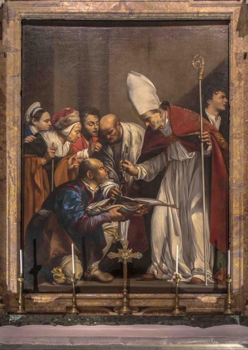 Carlo Saraceni, The Miracle of St. Benno, Church of Santa Maria dell'Anima