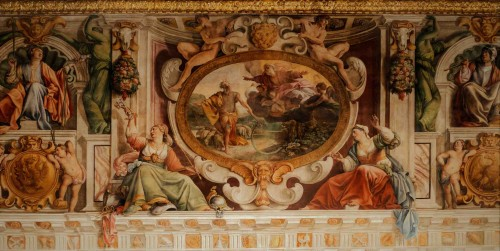 Carlo Saraceni and other painters, paintings in the Sala Regia, Palazzo del Quirinale