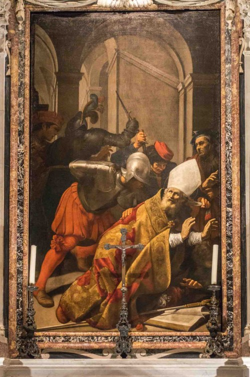 Carlo Saraceni, The Martyrdom of St. Lambert, Church of Santa Maria dell'Anima