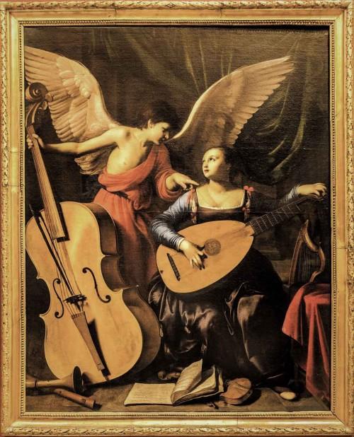 Carlo Saraceni, Św. Cecylia z aniołem, Galleria Nazionale d'Arte Antica, Palazzo Barberini